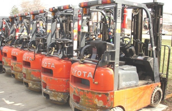 second hand toyota forklifts
